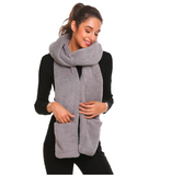 Fleece hooded scarf