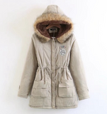 Autumn parka jacket for women