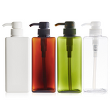 Bathroom minimalistic refillable pump bottle