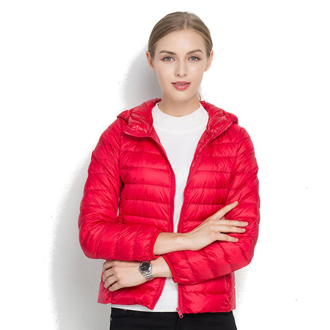 Bomber jacket with hood for autumn