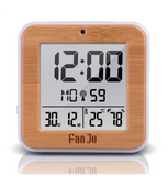 Wood design digital alarm clock