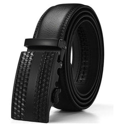 Solid buckle belt for men