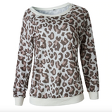 Leopard printed sweater