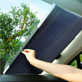 Retractable sun protection curtain for cars