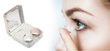 Contact lens case with mirror