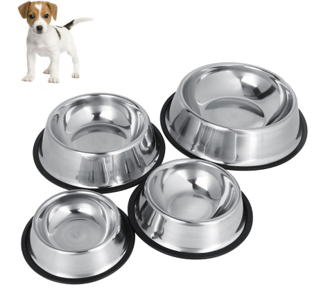 Dog cat food & water bowl