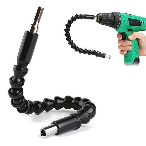 Flexible electric drill extension