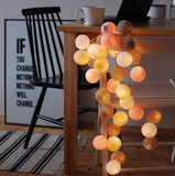 Cotton ball LED string lights