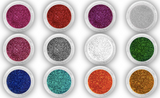 Set of 12 eyeshadow & nail glitter dust powders