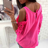 Casual hollow out blouse