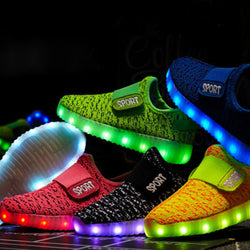 LED glowing sneakers for kids