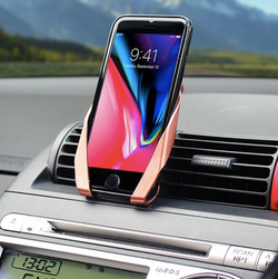 Bracket shaped car smartphone holder