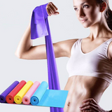 Elastic rubber fitness resistance band