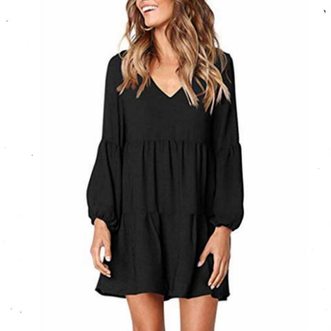 Long sleeve pleated dress