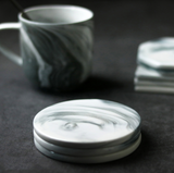Chic marble pattern coasters