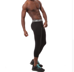 3/4 gym & sports leggings for men