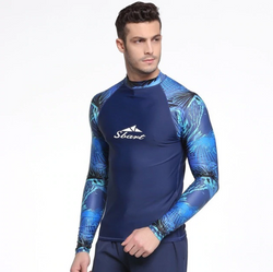Long sleeve swimsuit top for men