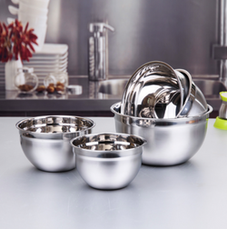 Stainless steel salad & mixing bowl