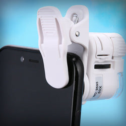 Mobile phone microscope clip