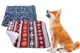 Winter pet blanket bed