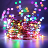 Copper string fairy lights with remote control