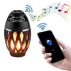 LED flames light Bluetooth speaker