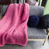 Chunky knitted decor throw