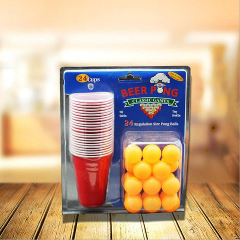 Beer pong kit party game