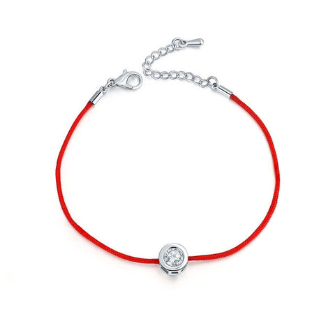 Red rope friendship bracelet