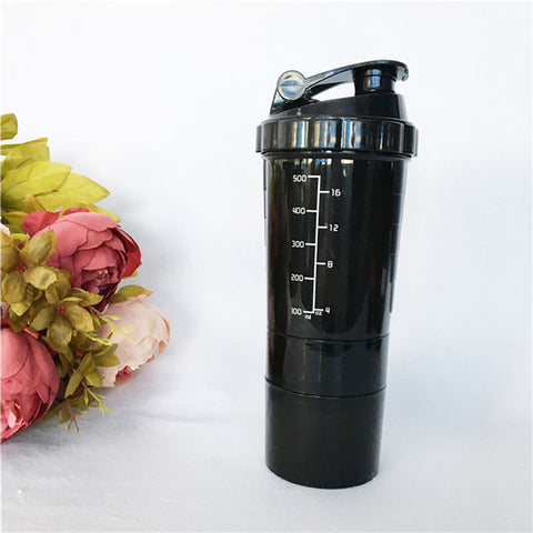 Fitness protein powder shaker bottle