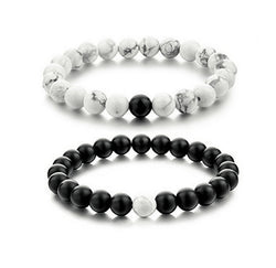 2 piece natural stone bracelet set