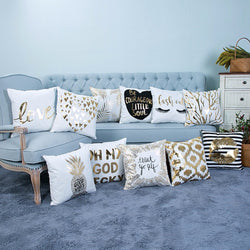 Metallic print cushion covers