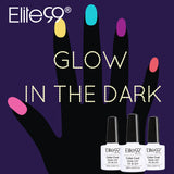 Candy color luminous glow in dark nail polish gel