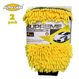 AutoCare 2 x waterproof microfiber car cleaning gloves