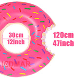 Inflatable pool donut