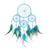 Handmade boho feather dream catcher