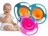 Rotating spill-proof balance gyro bowl for babies
