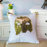 Reversible sequins mermaid cushion cover case