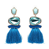 Firenze fringe drop ball party earrings