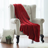 Coral fleece throw cozy blanket