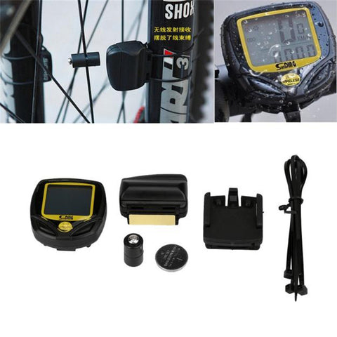 Wireless waterproof LCD bicycle computer speedometer