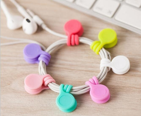 6 piece set of magnet cable organizers