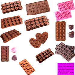 Heart shaped 3D silicone chocolate candy molds