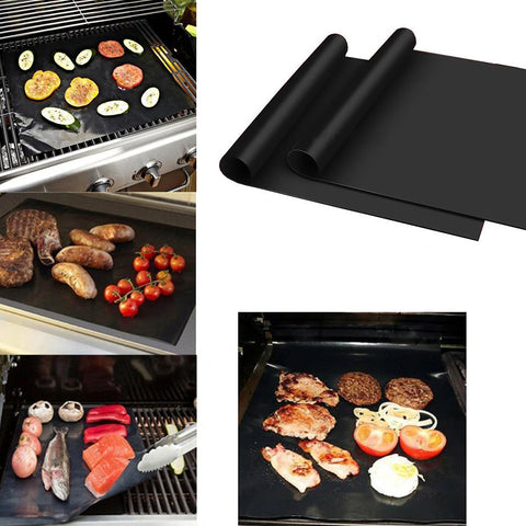 2 x black cooking mats