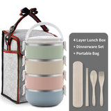 Stainless steel Japanese style bento lunch box