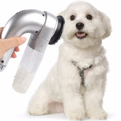 Vacuum pet hair removal machine