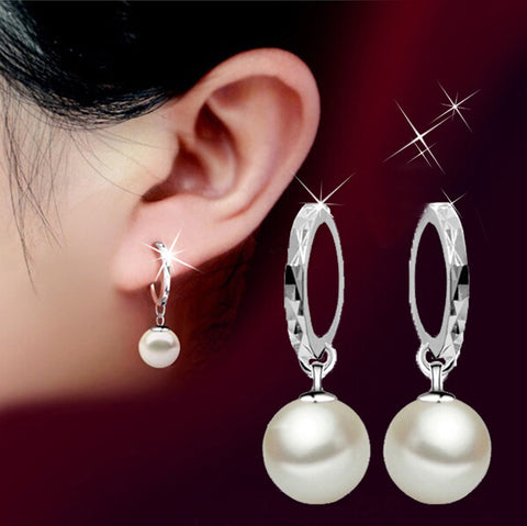 Fashion jewelry pearl drop earrings