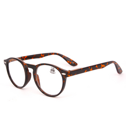 Round optical reading glasses