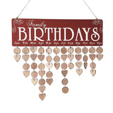Wooden birthday reminder board