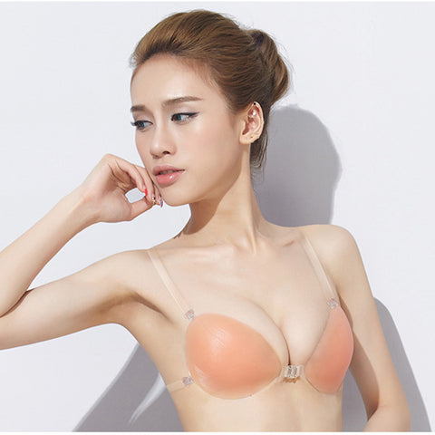 Invisible & backless silicone bra